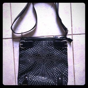 Crossbody purse w/ cross sparkle, bling, bedazzle